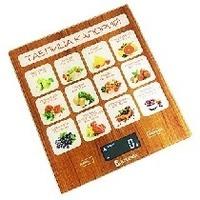 Весы кухонные Василиса ВА-003, многоцветные с рисунком «Таблица калорий»