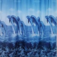 САНАКС Штора с рисунком -Дельфины- полиэстэр 01-04. Интернет-магазин Vseinet.ru Пенза