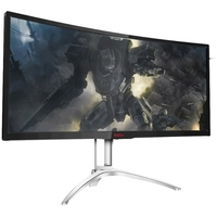 "Монитор AOC 35"" AG352QCX черный IPS LED 4ms 21:9 DVI HDMI M/M матовая HAS 300cd 2560x1080 D-Sub DisplayPort FHD USB 11.6кг. Интернет-магазин Vseinet.ru Пенза"