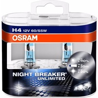 Лампа галогенная OSRAM H4 Night Breaker Unlimited 12V 60/55W, 2шт., 64193NBU-HCB. Интернет-магазин Vseinet.ru Пенза