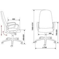 Кресло руководителя Бюрократ CH-808AXSN/TW-12 серый TW-12. Интернет-магазин Vseinet.ru Пенза