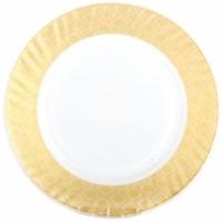 Тарелка плоская 20см, золотой песок HP80. Интернет-магазин Vseinet.ru Пенза