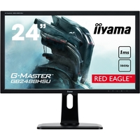 "Монитор Iiyama 24"" G-Master GB2488HSU-B3 черный TN+film LED 1ms 16:9 DVI HDMI M/M матовая HAS Pivot 350cd 170гр/160гр 1920x1080 DisplayPort FHD USB 5.6кг. Интернет-магазин Vseinet.ru Пенза"