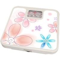 Весы напольные Energy ENM-409B, белые с рисунком «цветы». Интернет-магазин Vseinet.ru Пенза