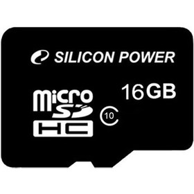 Карта памяти Silicon Power - micro SDHC 16Гб, Class 10(SP016GBSTH010V10)