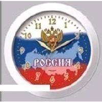 Часы настенные TROYKA Флаг России (11110191) / белый с рисунком. Интернет-магазин Vseinet.ru Пенза