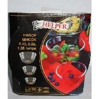 Набор посуды для СВЧ Helper 4523 / 3 предмета / Стекло. Интернет-магазин Vseinet.ru Пенза