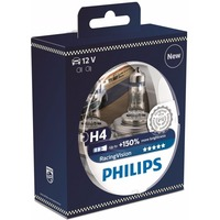 Лампа галогенная PHILIPS Racing Vision +150% H4 12V 60/55W (P43t), 2шт, 12342RVS2. Интернет-магазин Vseinet.ru Пенза