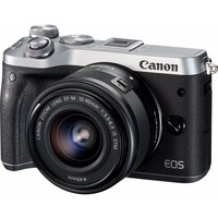"Фотоаппарат Canon EOS M6 серебристый 24Mpix 3"" 1080p WiFi 15-45 IS STM f/ 3.5-6.3 LP-E17. Интернет-магазин Vseinet.ru Пенза"