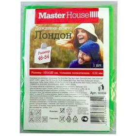 """Дождевик-пончо Лондон, размер127*101см (р-р 46-54), PE (Зеленый) (60334) """"Мастер Хаус"""""""