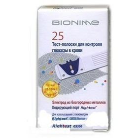 Тест-полоски BIONIME GS300 №25 Rightest Швейцария