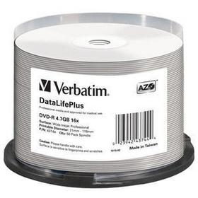 Фото Диск DVD-R Verbatim 4.7Gb 16x Cake Box (50шт) Printable (43744). Интернет-магазин Vseinet.ru Пенза