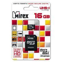Карта памяти Mirex micro SD 16Гб, Class 10 UHS-I, адаптер SD(13613-ADSUHS16). Интернет-магазин Vseinet.ru Пенза