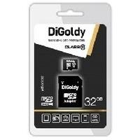 Карта памяти DIGoldy micro SDHC 32Гб, Class 10, адаптер SD(DG032GCSDHC10-AD). Интернет-магазин Vseinet.ru Пенза