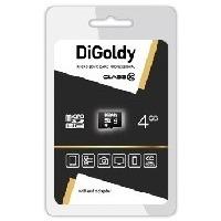 Карта памяти DIGoldy micro SDHC 4Гб, Class 10(DG004GCSDHC10 w/a Adaptor). Интернет-магазин Vseinet.ru Пенза