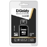 Карта памяти DIGoldy micro SDHC 8Гб, Class 10, адаптер SD(DG008GCSDHC10-AD). Интернет-магазин Vseinet.ru Пенза