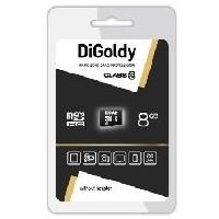 Карта памяти DIGoldy micro SDHC 8Гб, Class 10(DG008GCSDHC10 w/a Adaptor). Интернет-магазин Vseinet.ru Пенза