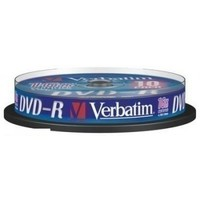 Диск DVD-R Verbatim 4.7Gb 16x Cake Box (10шт) 43523. Интернет-магазин Vseinet.ru Пенза