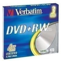Диски DVD+RW Verbatim 4.7Gb 4x Slim Case (3шт) 43636. Интернет-магазин Vseinet.ru Пенза