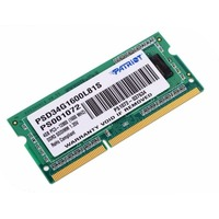 Память DDR3L 4Gb 1600MHz Patriot PSD34G1600L81S RTL PC3-12800 CL11 SO-DIMM 204-pin 1.35В dual rank. Интернет-магазин Vseinet.ru Пенза