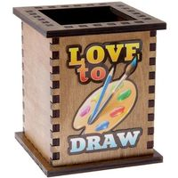 Карандашница Love to draw 12х10,2х10,2 см. Интернет-магазин Vseinet.ru Пенза
