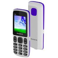 Сотовый телефон MAXVI C22, 2 SIM, белый с синим. Интернет-магазин Vseinet.ru Пенза