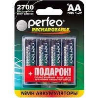 Аккумулятор AA Perfeo AA2700MAH-4BL+BOX, Ni-MH, 2700 mAh, 1.2 V (в упаковке 4 шт. + футляр, цена за 1 шт.). Интернет-магазин Vseinet.ru Пенза