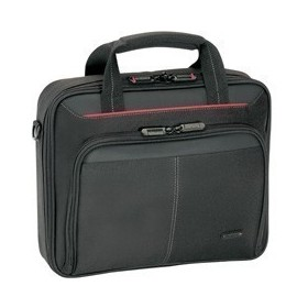 """Сумка для ноутбука TARGUS CN31 /полиэстер /15.4"""" /черный с красной полоской"""