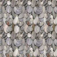 Штора с рисунком - РЕЧНЫЕ КАМНИ , в ванную комнату , без колец - полиэстэр 01-30 САНАКС. Интернет-магазин Vseinet.ru Пенза