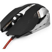 Мышь проводная Гарнизон GM-760G, USB, черная с серебристым. Интернет-магазин Vseinet.ru Пенза