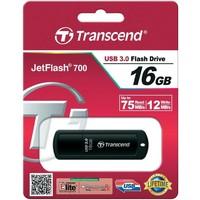 Флешка Transcend JetFlash 700 16Гб, USB 3.0, черный (TS16GJF700). Интернет-магазин Vseinet.ru Пенза