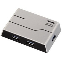 Хаб Hama 4-port USB 3.0 black H-39879. Интернет-магазин Vseinet.ru Пенза