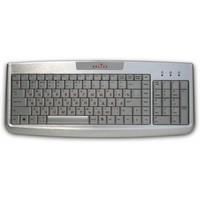 Фото Клавиатура Oklick 580М черная с белым проводная, USB провод, . Интернет-магазин Vseinet.ru Пенза