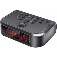Радиобудильник HYUNDAI H-RCL120, красная подсветка, черный. Интернет-магазин Vseinet.ru Пенза