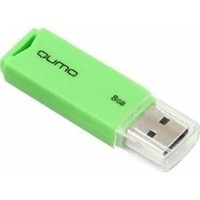 Память QUMO Pen Drive 8192 USB 2.0 Tropic Green retail. Интернет-магазин Vseinet.ru Пенза