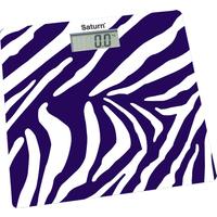 Весы напольные Saturn ST-PS0282 Зебра, белые с фиолетовым «зебра»