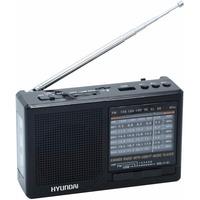 Радиоприемник портативный Hyundai H-PSR140 черный USB microSD. Интернет-магазин Vseinet.ru Пенза