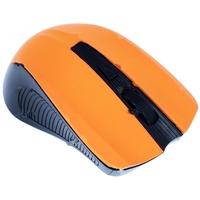 Мышь беспроводная Oklick 675MW, USB, черная с оранжевым