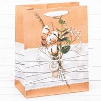 """Пакет вертикальный крафт """"Нежность для тебя"""", 15 х12 х5,5 см"""