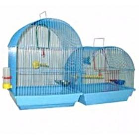 Зоомарк №420 Клетка д/птиц малая полукруглая (комплект) 35*28*37