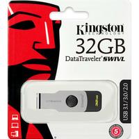 Флешка Kingston DataTraveler microDuo Swivl 32Гб, USB 3.0, серебристая с черным (DTSWIVL/32GB). Интернет-магазин Vseinet.ru Пенза