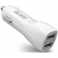 Автомобильное зарядное устройство OLMIO ПР038761, 2.1 А, белое. Интернет-магазин Vseinet.ru Пенза