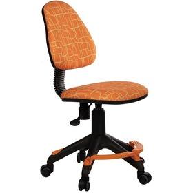 Кресло детское БЮРОКРАТ KD-4-F, на колесиках, ткань, оранжевый [kd-4-f/giraffe]. Интернет-магазин Vseinet.ru Пенза