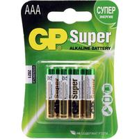 Фото Батарея GP Super Alkaline 24ARS LR03 AAA (4шт) спайка. Интернет-магазин Vseinet.ru Пенза