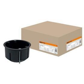 Фото Установочная коробка СП D73х45мм, саморезы, метал. лапки, IP20, TDM (SQ1403-0009). Интернет-магазин Vseinet.ru Пенза