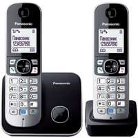 Радиотелефон Panasonic KX-TG6812 RUB / 2 трубки / чёрный. Интернет-магазин Vseinet.ru Пенза