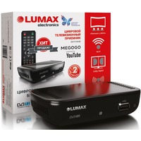 Фото ТВ приставка DVB-T2 Lumax DV1110HD Wi-Fi-адаптер приобретается отдельно. Интернет-магазин Vseinet.ru Пенза