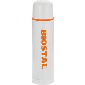 Термос Biostal NB-1000C, 1 л, белый с оранжевым