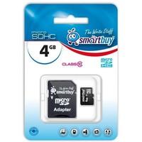 Карта памяти SmartBuy - SDHC 4Гб, Class 10, адаптер SD(SB4GBSDCL10-01). Интернет-магазин Vseinet.ru Пенза