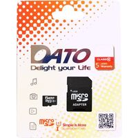 Карта памяти DATO micro SDXC 64Гб, Class 10 UHS-I U1, адаптер SD (DTTF064GUIC10). Интернет-магазин Vseinet.ru Пенза